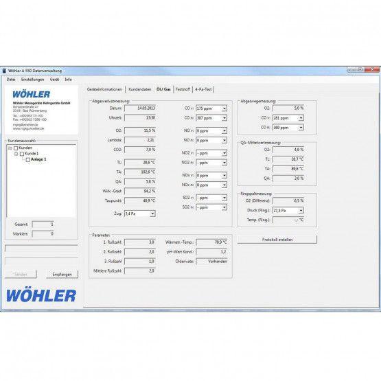 Wöhler A 550 PC-Software