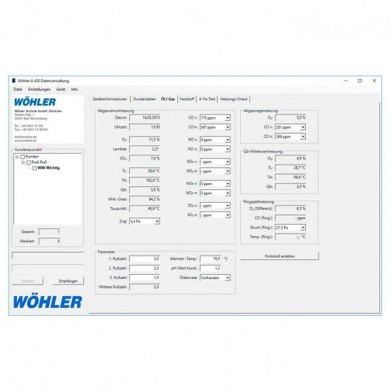 Wöhler A 450 PC-Software