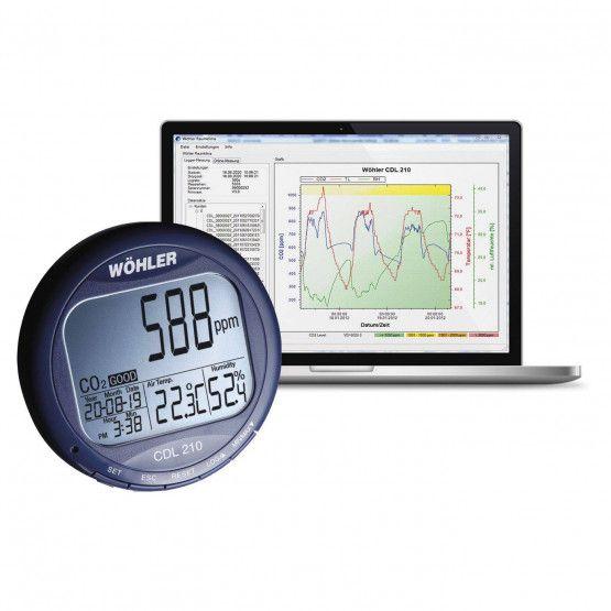 Wöhler CDL 210 CO2 Datenlogger
